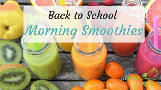 back to school morning smoothies